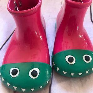 Mini Melissa Rhino Rain Boots Size 7